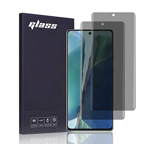 FiiMoo Privacy Pellicola Protettiva Compatibile con Samsung Galaxy Note 20,[2 Pezzi] [Riconoscimento delle Impronte digitali] [Copertura Completa] Anti-Spia TPU Pellicola Protezione Galaxy Note 20