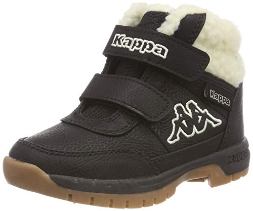 Kappa Unisex-Kinder Bright Mid Fur Kurzschaft Stiefel, Schwarz (Black/Offwhite 1143), 25 EU