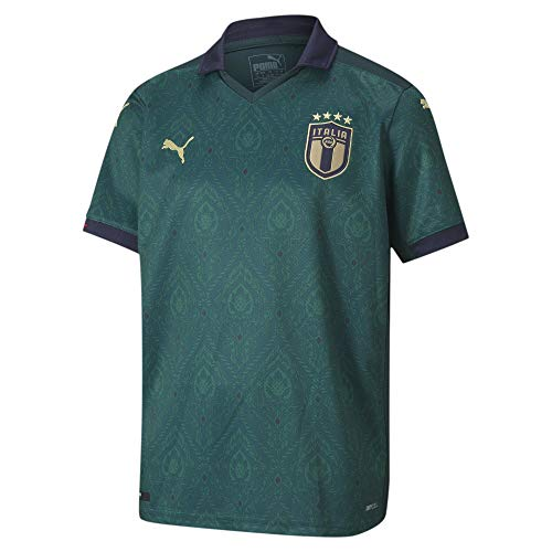 PUMA Kinder FIGC Third Shirt Replica Jr Trikot, Ponderosa Pine-Peacoat, 176