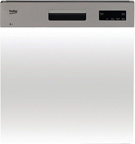 Beko PDSN15310X Semi intégré 13places A+ lave-vaisselle - Lave-vaisselles (Semi intégré, Taille maximum (60 cm), Acier inoxydable, Blanc, 13 places, 47 dB, A)
