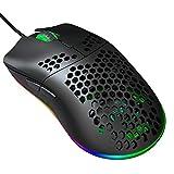 Vbestlife Ratón para Juegos con Cable, ratón con Orificio Ratón USB portátil Ratón ergonómico:...