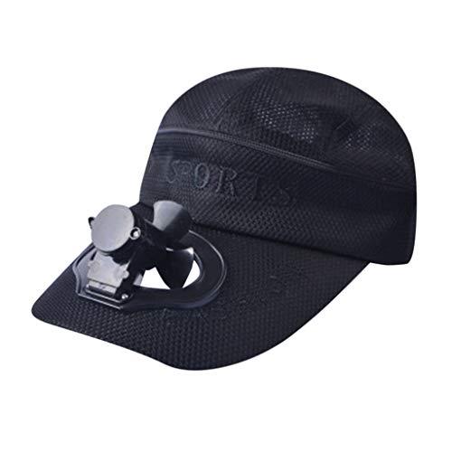 TWIFER Sombrero de béisbol Fan sombrilla del USB de la batería de Litio Hombres y Mujeres sombrilla del par del Viento Camping Senderismo Gorra de Pico con Ventilador Solar Powered Hat