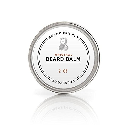 Premium Organic Beard Balm by Beard Supply. All Natural Leave in Conditioner. Keeps Your Beard Soft and Smells Great. (2 oz)