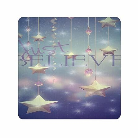 Funny Wonderful Quality Mouse Pads Believe With Stars Customised Cool For Gameboys
