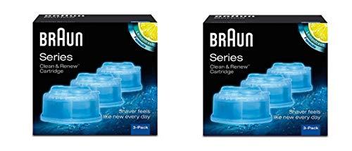 Braun – Pack de 6 recambios de líquido limpiador para sistema Clean & Renew – 2 x CCR3