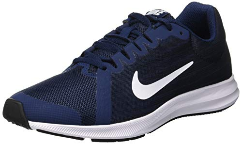 Nike Herren Downshifter 8 Laufschuhe, Blau Midnight Navy White Dark Obsidian Black 400, 38.5 EU