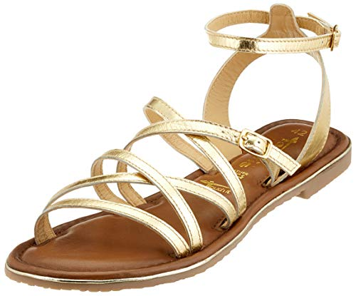 Tamaris Damen 1-1-28173-32 Römersandalen, Gold (Light Gold 909), 38 EU
