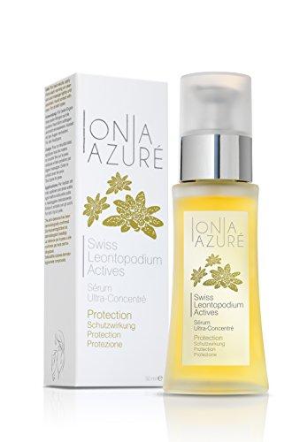 Swiss Leontopodium Actives: Schutzendes Serum mit alpinem BIO-Edelweiss. Schützt die Haut gegen Reizungen, Alterung und Stress. 50 ml.