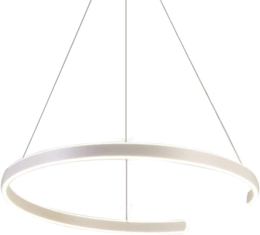 N / A LED farola suspendido lámpara de Techo de la lámpara del Techo contemporáneo Sala de Estar luz se Convierte en el Anillo Luminoso (Doble diámetro del Anillo 60 cm), un Anillo de 60 cm de