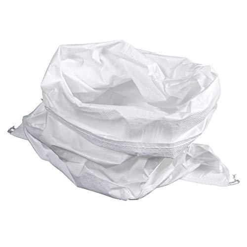 HaGa® Lot de 50 sacs en polypropylène résistant Blanc 65 x 135 cm