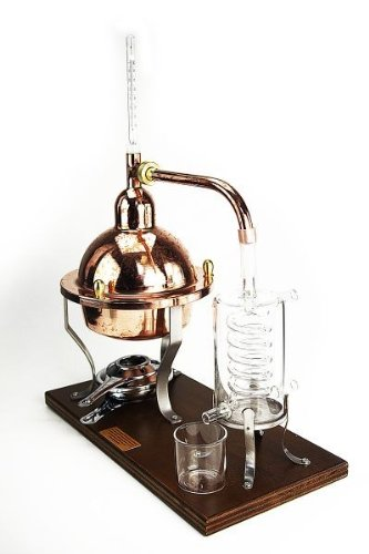 1L Distillatieapparatuur Kristal met glazen condensor & thermometer