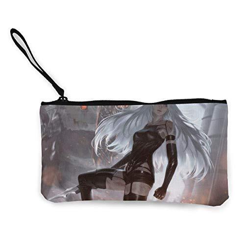 Yuanmeiju Neil Mechanical Era Geldbörses?Canvas Zipper Make Up Pouches with Wristlet Strap Cellphone Purse