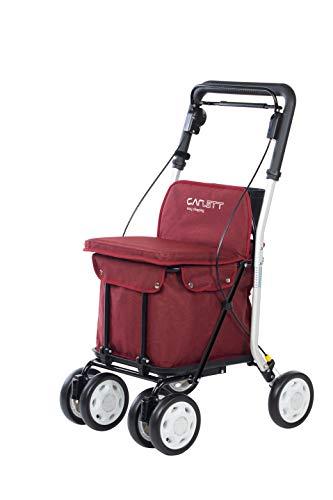 Carlett Carro DE LA Compra-Andador Lett 800 con Asiento, Coleccion 2020, Rojo TXT, Red,