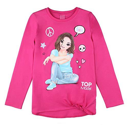 Top Model Mädchen T-Shirt, Langarmshirt, pink, Größe 140, 10 Jahre