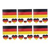 Bandera de Alemania etiqueta engomada de los tatuajes temporales a prueba de agua Sweatproof Cuerpo de la cara de la decoración del partido pegatinas Decoraciones 6pcs / set necesidades diarias