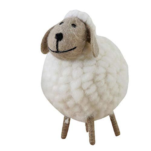 Wollfilz Schaf-form Wollfilz Ornament-kind-raum-dekor-weiß Filz Für Weihnachtsfest-party-l Größe Dienstprogramme Praktisches Werkzeug