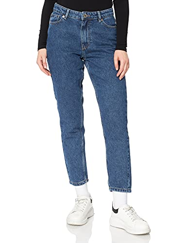 ONLY Damen ONLJAGGER Life HIGH MOM Ankle DNM NOOS Jeans, Dark Medium Blue Denim/Detail:NAS856, 28/30