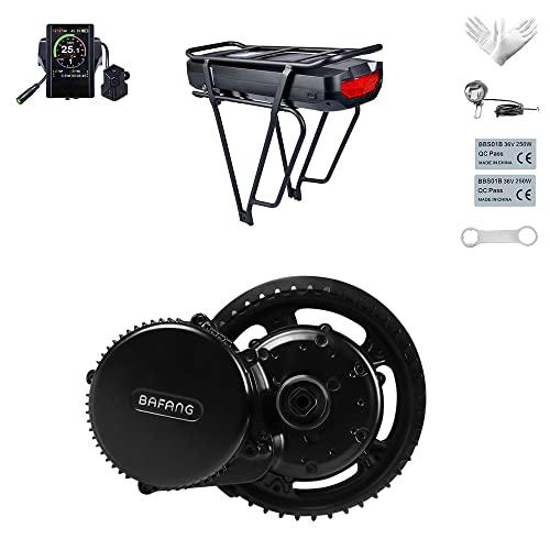 BAFANG Mid Drive Kit para Bicicleta de montaña Bicicleta de Carretera Potencia Nominal Tensión Nominal 48V 500W Conversión de Bicicleta Kit de Motor eléctrico Opción de Plato múltiple y Pantalla