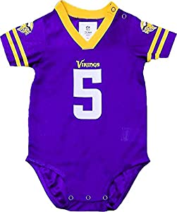 Outerstuff Teddy Bridgewater Minnesota Vikings #5 Purple Infants Toddler Home Player Jersey (6/9 Months)
