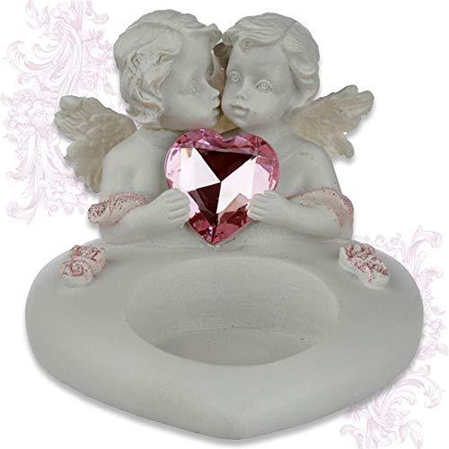mtb more energy Deko Teelichthalter ''Sweetheart Angel'' - Engel Kerzenhalter - Höhe 9 cm - Fantasy Figur Dekoration