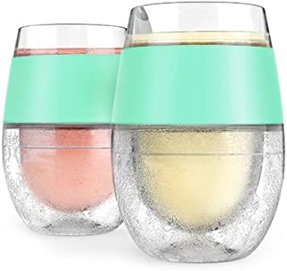 Host Wine Freeze Cooling Cups, Mint (Set of 2)