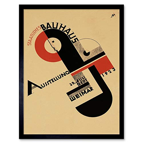 Exhibition Bauhaus Weimar Icon Germany Vintage Retro Advertising Art Print Framed Poster Wall Decor...