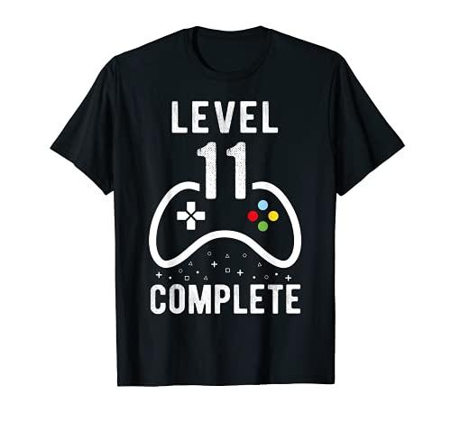 Geburtstag Junge 11 Jahre Shirt Gamer Level 11 Complete T-Shirt