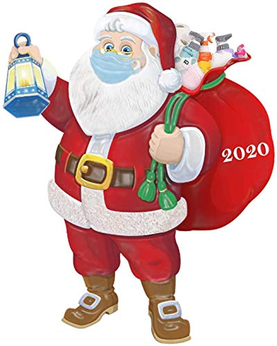 Xxtylo 2020 Santa Claus Ornaments, Santa Wearing A_Mask Christmas Tree Decorations Pendant Hanging Ornaments for Xmas Tree,Unique Tradition Home Decor for Family