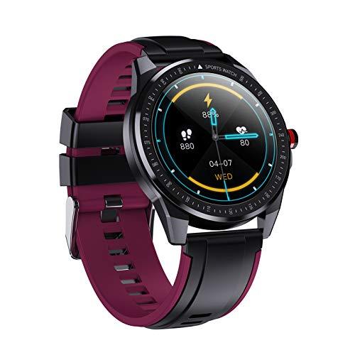 oneforus Montre Intelligente pour Homme SN88, Regarder Le Tracker de Fitness, Bluetooth Sport Masculin et Féminin Universel IP68 étanche,Purple