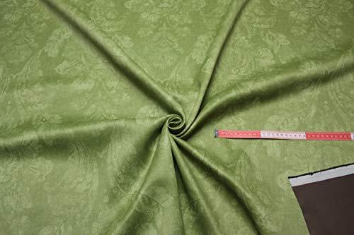 Escalano Verdunkelungsstoff Meterware Gardinenstoff Vorhangstoff Blackout Thermostoff Blickdicht Sonnenschutz (Apfelgrün)