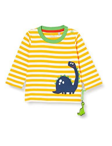 SIGIKID Baby - Jungen Shirt Langarm aus Bio-Baumwolle, abnehmbares Hangtoy, Größe 062 - 098
