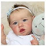 YANRU Bebe Reborn Fille Silicone Plein Corps, 22 Pouces 55 Cm PoupéE Reborn Fille - Souple BéBé Reborn en Silicone RéAliste - pour Les Filles Et Les Enfants