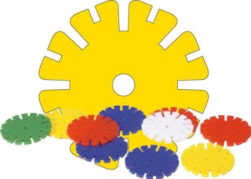 Lena 35890 Bastelset Rondi, Steckelemente 45 mm, Steckbausteine ca. 500 gr, Steckbauspiel für Kinder ab 2 Jahre, Konstruktionssteckspiel mit farbigen Kunststoffelementen