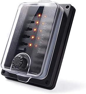 HORIFEN 12V Sicherungshalter Wasserdicht,10 Fach Sicherungskasten mit Led Anzeige und Abdeckung für Auto Schiff
