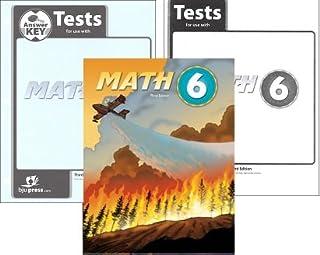 BJU Math 6 SET-Student Worktext, Test Packet, Test Answer Key and Manipulatives