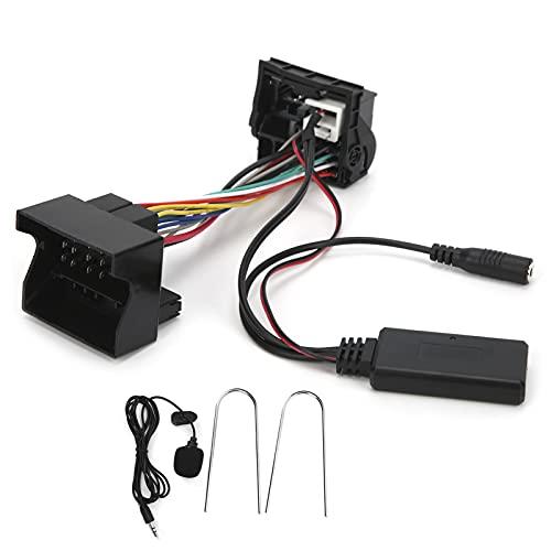 Cable AUX-IN Bluetooth para Coche, Fydun Cable AUX-IN Bluetooth de 12 Pines Adaptador de Audio estéreo con micrófono Cable Flexible Apto para 207307407308