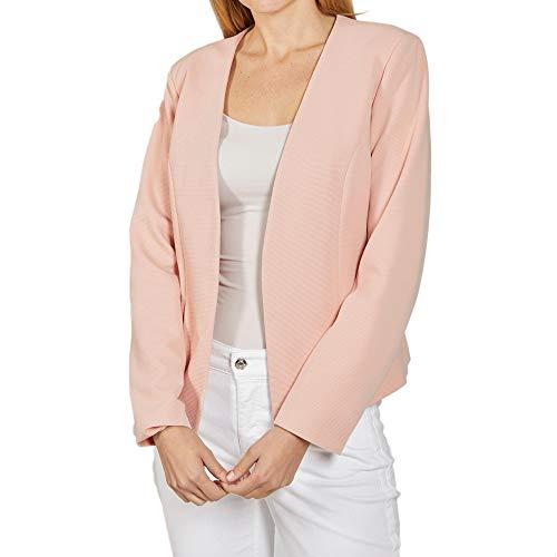 ONLY NOS Damen Anzugjacke onlANNA Short Noos Blazer Tlr, Rosa (Rose Smoke), (Herstellergröße: 36)