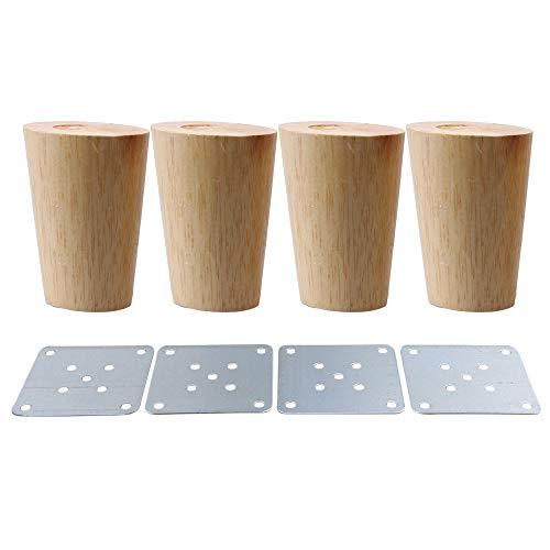 BQLZR Möbelfüße aus Massivholz, 4Stück, M4170724032