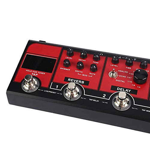 Pedal de efecto de compresor de pedal de guitarra con todas las funciones, para guitarrista, para interpretación