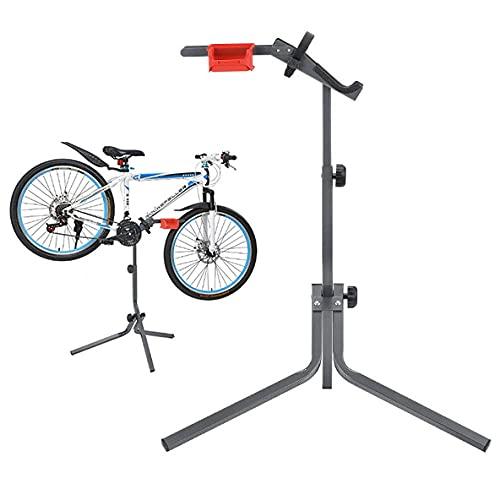 Zaaqio Banco Trabajo Bicicleta,Soporte Bicicletas Suelo Ajustable, Ligero, Portátil Soporte Reparacion Bicicleta para 26-28' Bicicleta