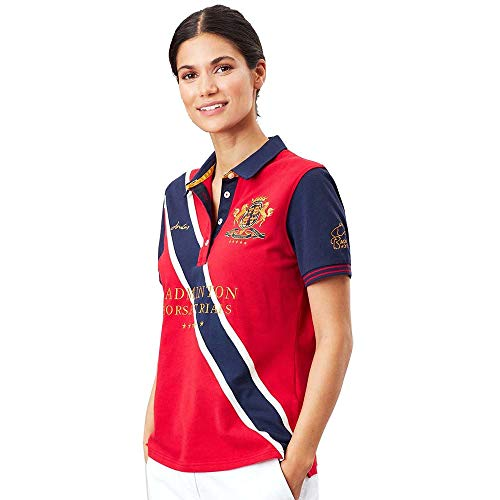 Joules Womens Badminton Embroidered Short Sleeve Polo Shirt