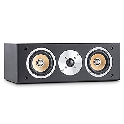 "Auna Line 501 CS-BK Passive Centre Hifi Speaker (120W, Two 10cm(4"") Midrange, 2.5(1"") Tweeter) Black from Auna"