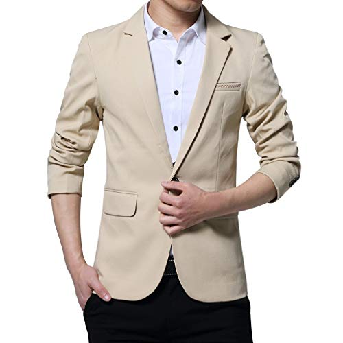 BaZhaHei 2019 Neue Herren Sakko Slim Fit bequem Freizeit Leichte Jackett Regular Fit Business klassisch Anzüge One Button Anzug für Selbstkultivierung Coat