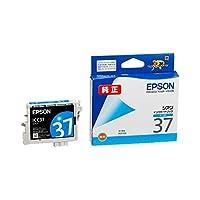 (まとめ) エプソン EPSON インクカートリッジ シアン ICC37 1個 【×4セット】 ds-1570554