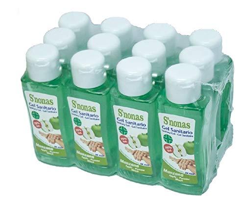 Gel Sanitario S´nonas Aromas 100 ml. Aroma Manzana Verde. Pack 12 Uds