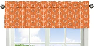 Sweet Jojo Designs Orange and White Arrow Print Window Treatment Valance for The Orange and Navy Arrow Collection