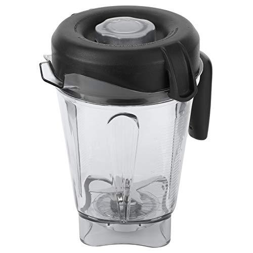 Recipiente para licuadora, recipiente profesional transparente para licuadora de alimentos con accesorios de repuesto para tapa de cuchilla, apto para recipientes Vitamix de 64 oz