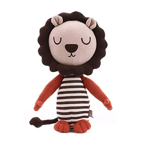 Pluche Jungle Brothers Animal Lion Knuffel Kussen Little Lion Doll-Striped Grey_30cm