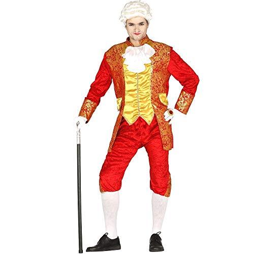 Guirca Disfraz Adulto Conde Francés T/52-54, Color Rojo (8433)