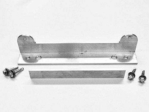 Zaun-Nagel Schließblech Alu, 2 teilig mit Bohrschrauben